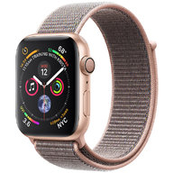 Apple Watch Series 4 44mm GPS Gold Aluminum Case with Pink Sand Sport Loop (MU6G2)
