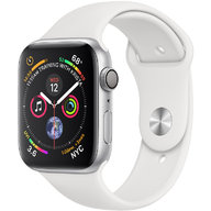 Apple Watch Series 4 44mm GPS Silver Aluminum Case with White Sport Band (MU6A2)