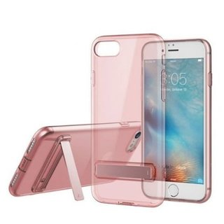 Rock TPU Slim Jacket with Stand function Transparent Pink for iPhone 8/iPhone 7