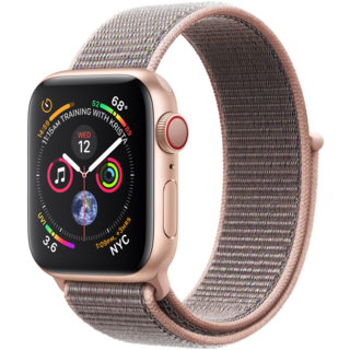 Apple Watch Series 4 40mm GPS+LTE Gold Aluminum Case with Pink Sand Sport Loop (MTUK2, MTVH2)