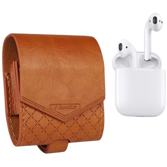 Чехол для наушников Becover Сase Baroque i-Smile Brown IPH1436 (702342) for Apple AirPods