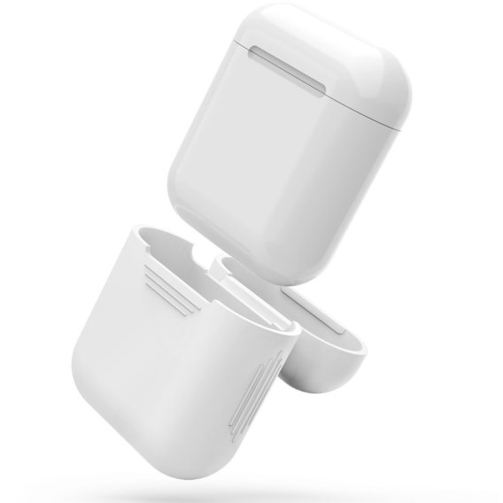 Чехол для наушников AhaStyle Silicone Case White (X001BB1007) for Apple AirPods