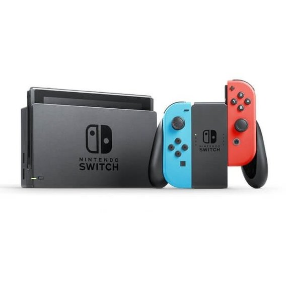 Игровая приставка Nintendo Switch with Neon Blue and Neon Red Joy‑Con