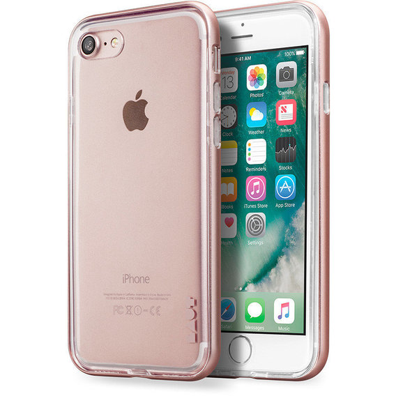 Аксессуар для iPhone LAUT EXO-FRAME Rose Gold (LAUT_IP7_EX_RG) for iPhone 8/iPhone 7