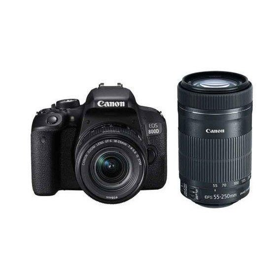 Canon EOS 800D kit (18-55mm + 55-250mm) IS STM (Сумка+аккумулятор+карта)