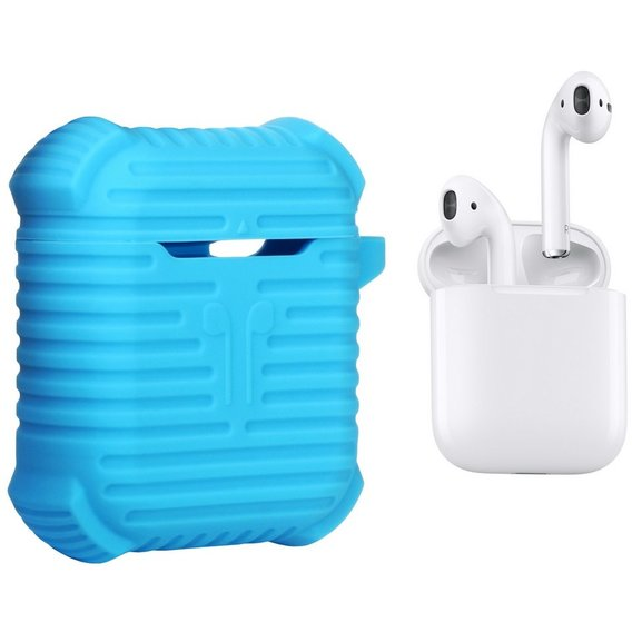 Чехол для наушников Becover Case Protective i-Smile Blue IPH1371 (702351) for Apple AirPods