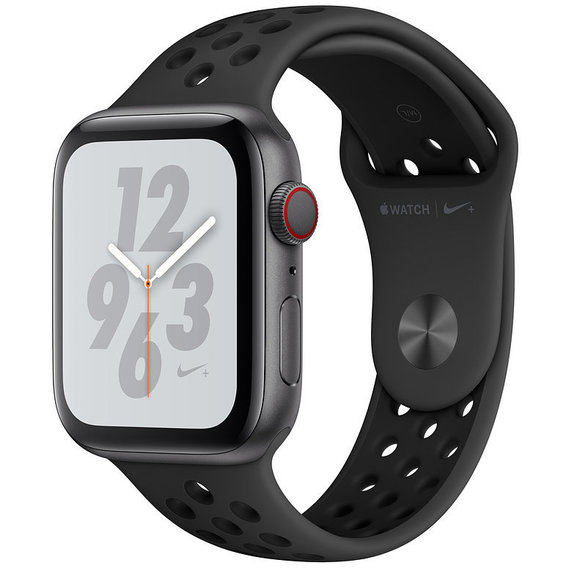 Watch Apple Watch Series 4 Nike+ 44mm GPS+LTE Space Gray Aluminum Case with Anthracite/Black Nike Sport Band (MTXE2)