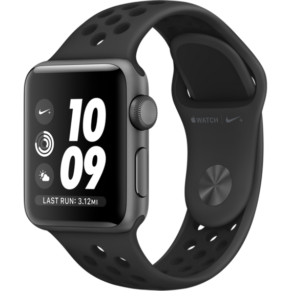 Apple Watch Series 3 Nike+ 38mm GPS Space Gray Aluminum Case with Anthracite/Black Nike Sport Band (MQKY2, MTF12)