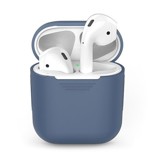 Чехол для наушников AhaStyle Silicone Case Navy Blue (AHA-01020-NBL) for Apple AirPods