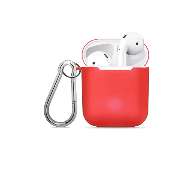 Чехол для наушников WIWU iShell TPU Case Transperent Red for Apple AirPods