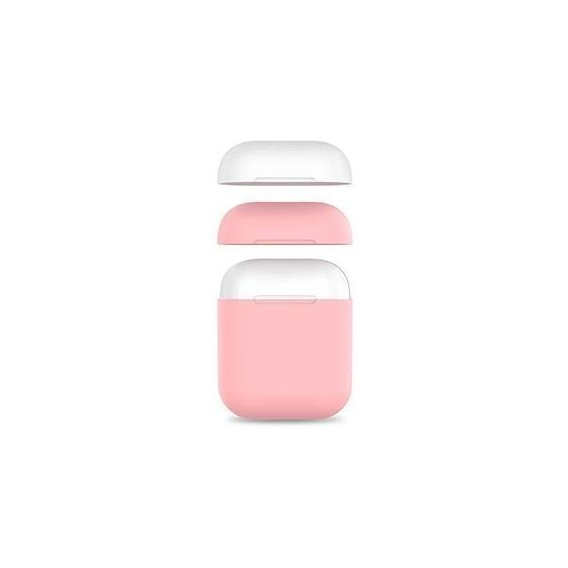 Чехол для наушников AhaStyle Silicone Duo Case Pink/White (AHA-01380-PPW) for Apple AirPods 2 2019