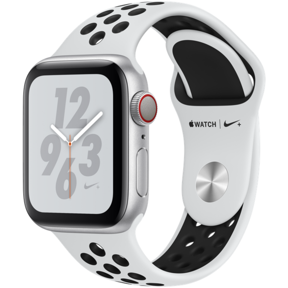 Watch Apple Watch Series 4 Nike+ 40mm GPS+LTE Silver Aluminum Case with Pure Platinum/Black Nike Sport Band (MTV92)